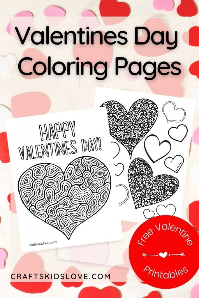 Free Printable Valentine Coloring Pages - Crafts Kids Love