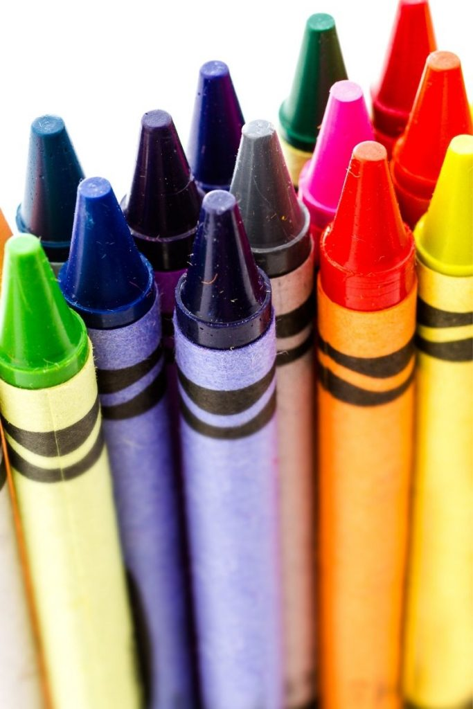 sharpened crayons standing up