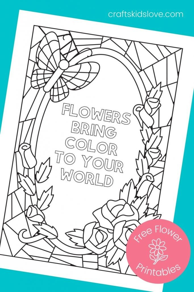 Flower printable pages to color