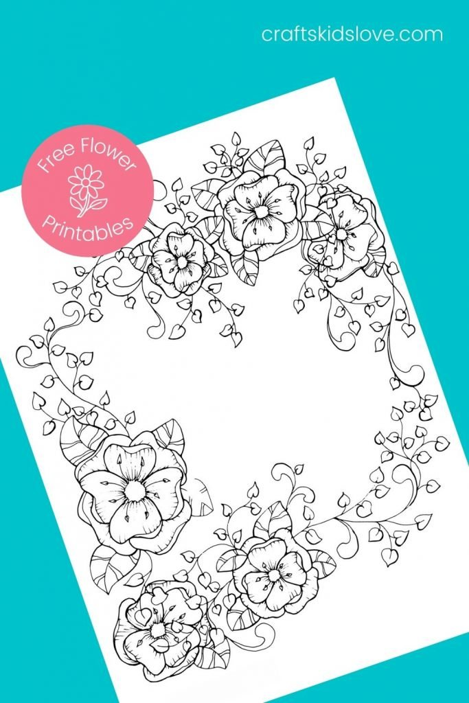 print a flower picture to color