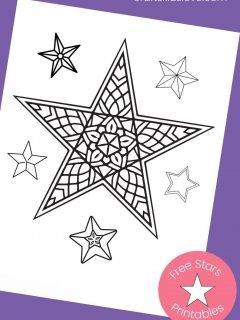 star mandala on purple background