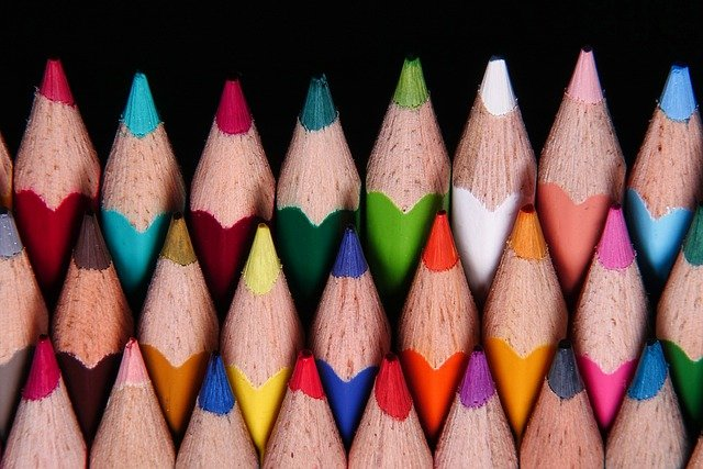 Tips of colored pencils - coloring pages for kids