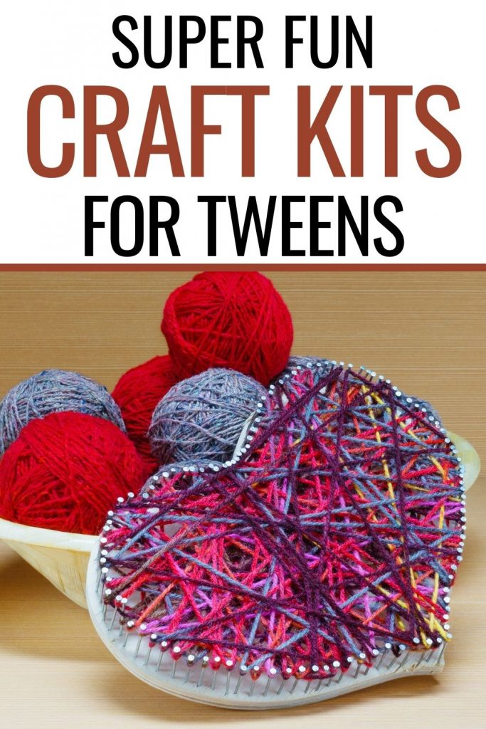red blue and purple string art in heart shape - tween craft kits on amazon