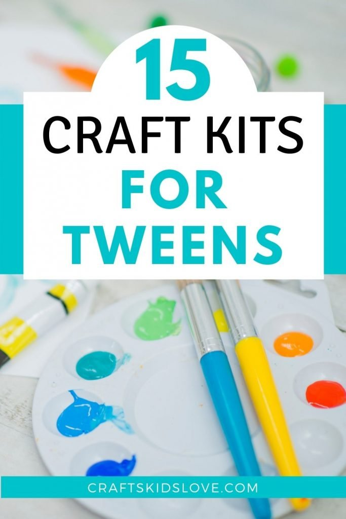 paint pallet and brushes - tween craft kits