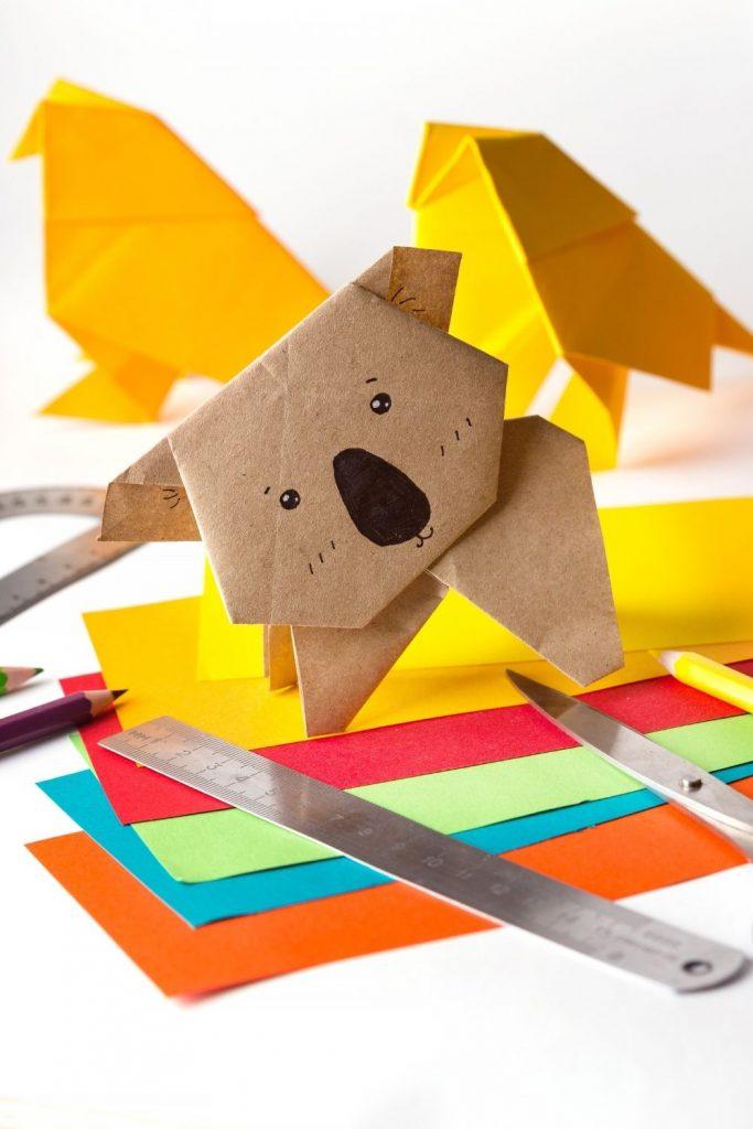 Origami koala paper folding - diy paper crafts for tweens