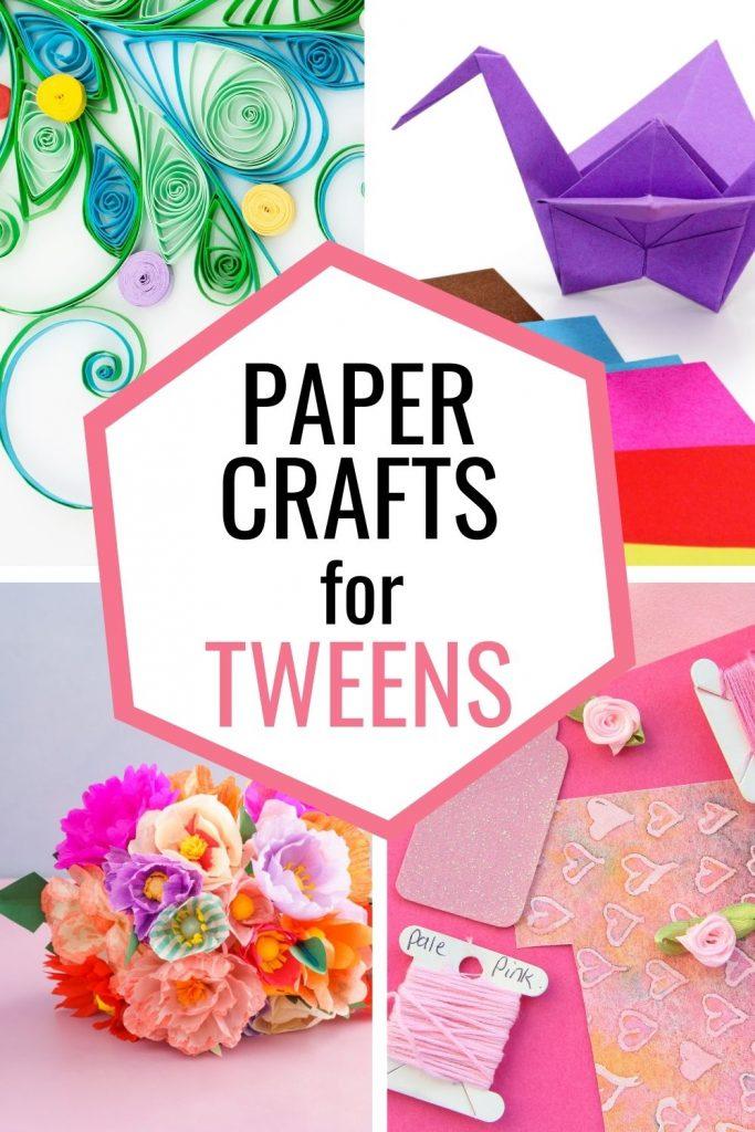paper flowers origami scrapbook paper crafts for tweens