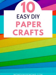 colorful paper for easy DIY paper crafts