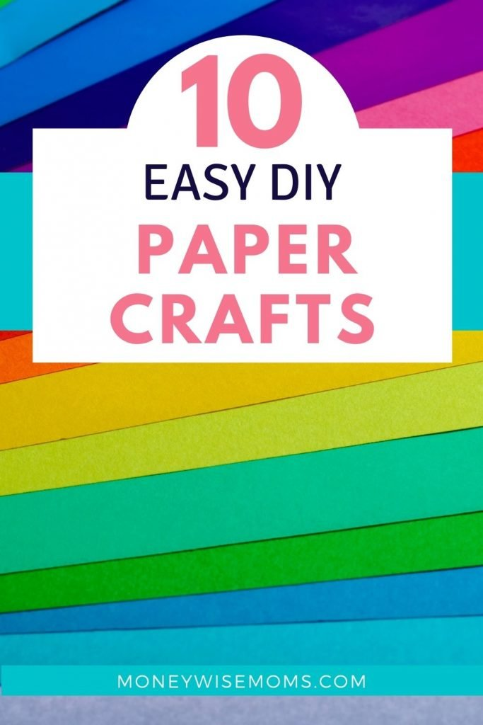 rainbow of colored paper in background - 10 diy paper crafts