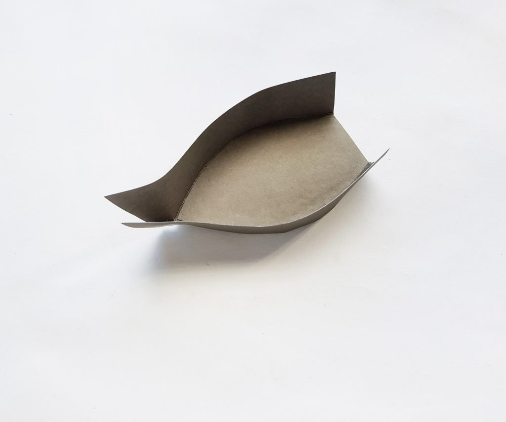 basic shape of making a paper boat