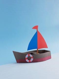 Paper sail boat