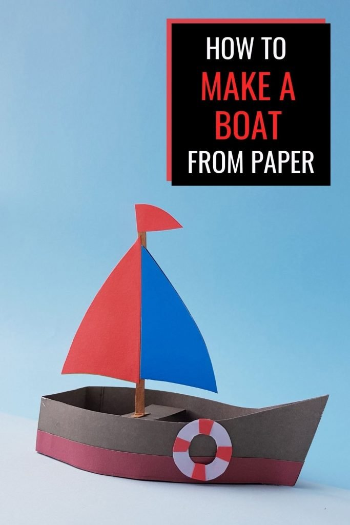 How to make a paper boat - tutorial for paper sailboat